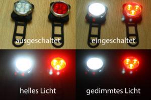 Helligkeit der wiederaufladbaren LED Fahrradlampen
